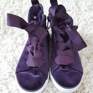 Cat & Jack Toddler Purple Velvet Tennis Size 11